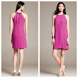 BANANA REPUBLIC Berry Halter Paradise Dress 8